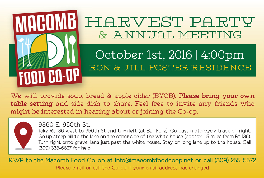 Harvest Party & Annual Meeting